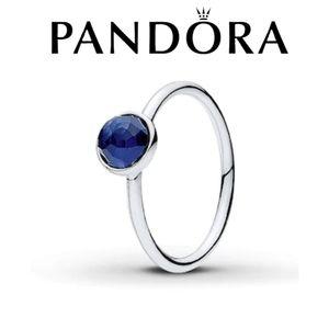 Pandora Sapphire birthstone ring